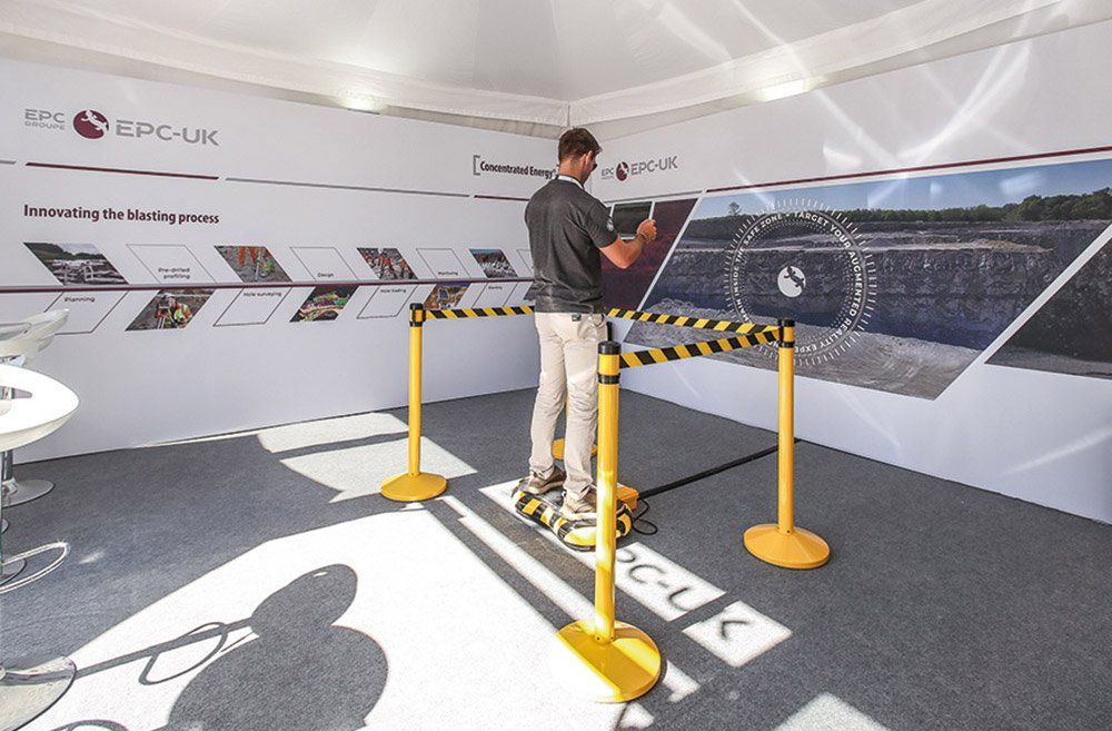 Augmented reality (AR) exhibition stand